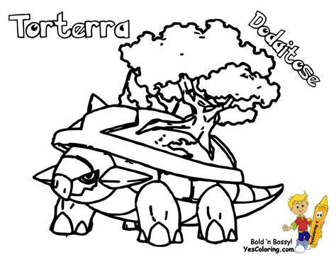 pokemon coloring pages torterra bodacious pokemon colouring turtwig cherrim free