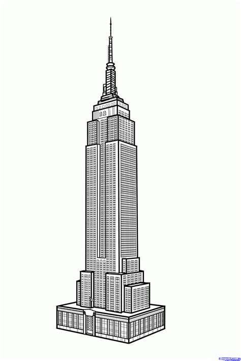 draw building how to draw the empire state building empire state