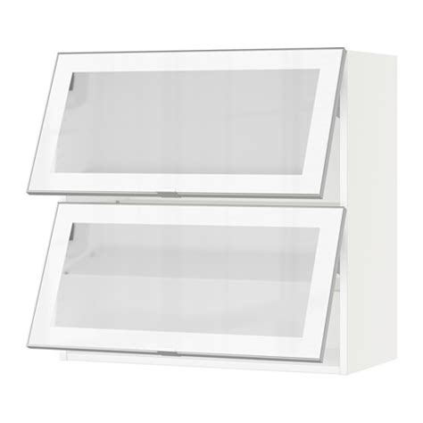 horizontal kitchen wall cabinets sektion horizontal wall cabinet 2glass door white jutis