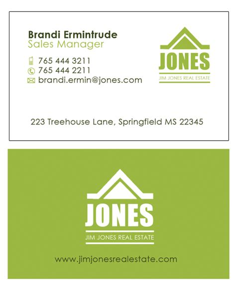 photoshop real estate business card template 5 photoshop psd business card design templates for real