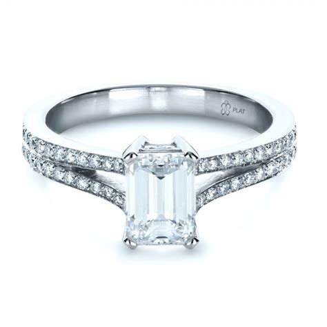 custom radiant cut engagement ring 1284 bellevue