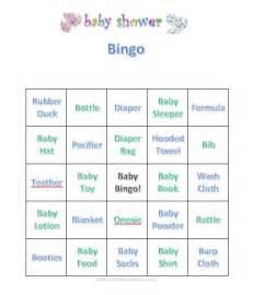 baby bingo template baby shower bingo free printable bingo cards and