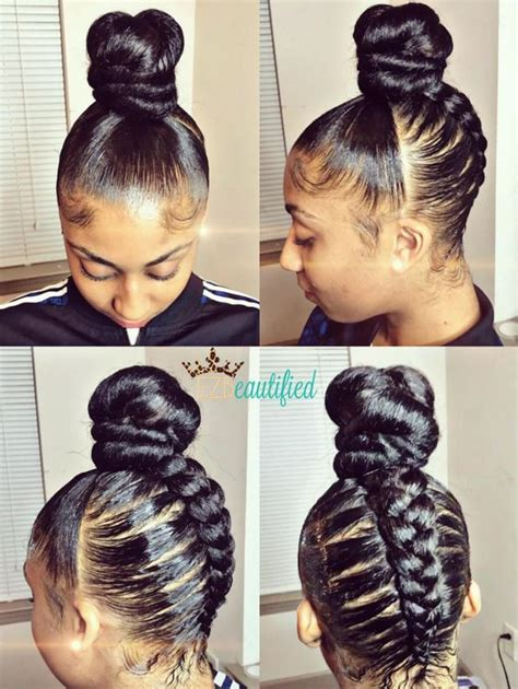 braided hair buns for black women creative braided bun via ezbeautified read the article