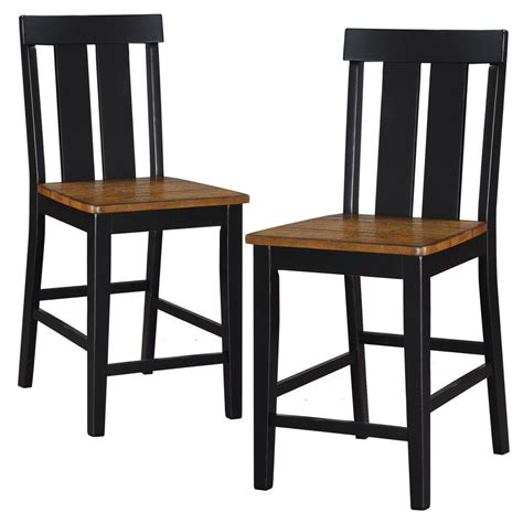 set   dining counter height high chairs wooden seat distressed wood black ebay