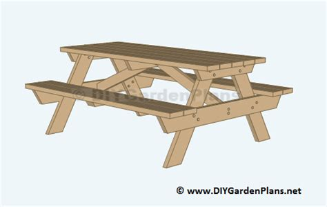 diy picnic table plans  kids  adults