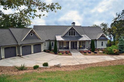 ranch house plans with walkout basement mountain ranch with walkout basement 29876rl