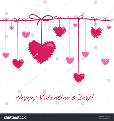 template s day card template card valentines day stock vector 70310332