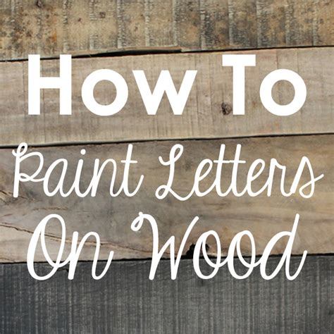 painting letters on wood levelings