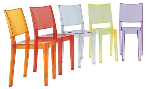 le starck kartell chaise empilable la transparente polycarbonate cristal kartell