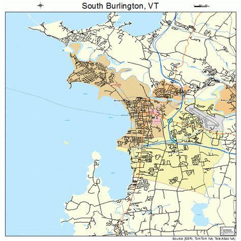 burlington map south burlington vermont map 5066175