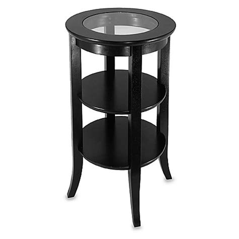 round table phone round telephone table with glass top bed bath beyond