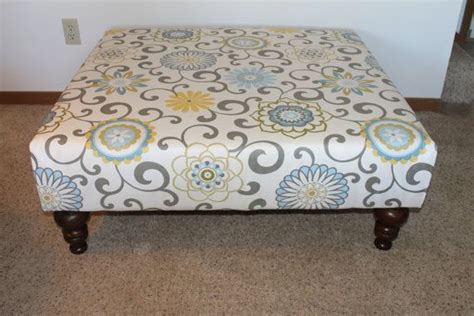 Extra Large Ottoman With Custum Fabric 40 Square Fabric