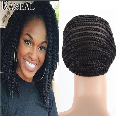 black people hair caps razeal cornrows wig caps for making wigs black cornrows