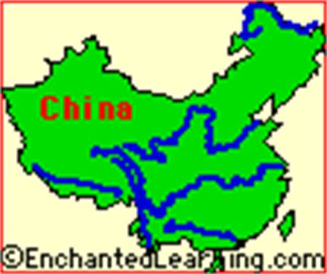 Great Wall Of China Map Outline by China Enchantedlearning