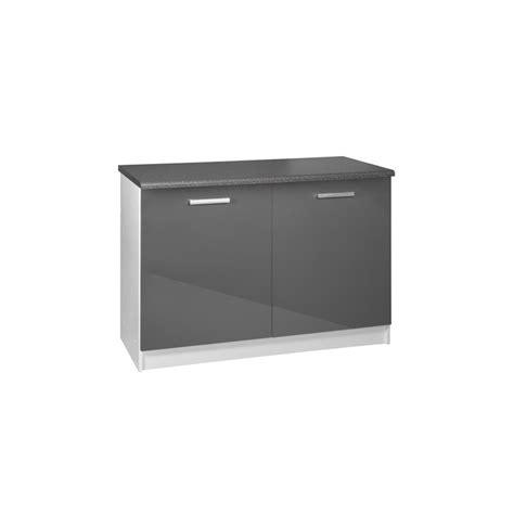 meuble bas cuisine 120 cm meuble de cuisine bas 2 portes 120 cm tara laqu 233