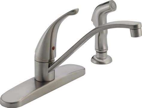 peerless 174 1 handle side sprayer kitchen faucet at menards 174