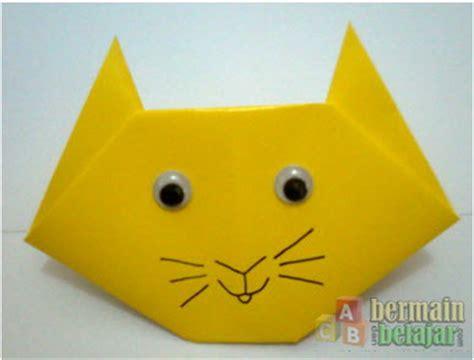 cara membuat origami angsa yang mudah membuat origami berbentuk kucing bermaindanbelajar com
