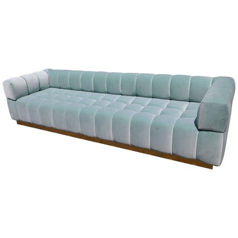 aqua tufted sofa custom tufted aqua blue velvet sofa with brass base for