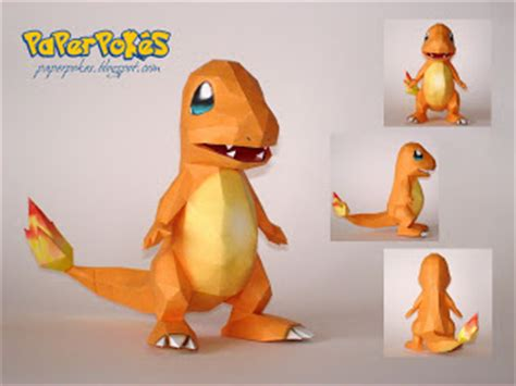 Origami Charmander - sylveon ver 3 free papercraft http