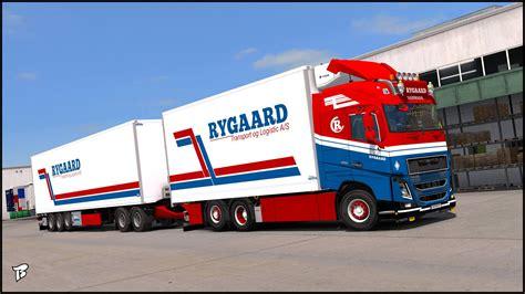 volvo transport truck volvo fh16 2012 ryggard transport truck skin v2 0 ets2 mod