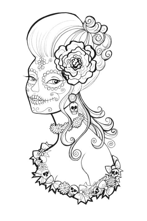 la catrina coloring pages free free printable day of the dead coloring pages by heather