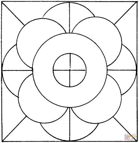 imagenes de mandalas con circulos dibujo de c 237 rculos y l 237 neas para colorear dibujos para