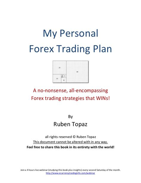 options trading plan template my personal forex trading plan