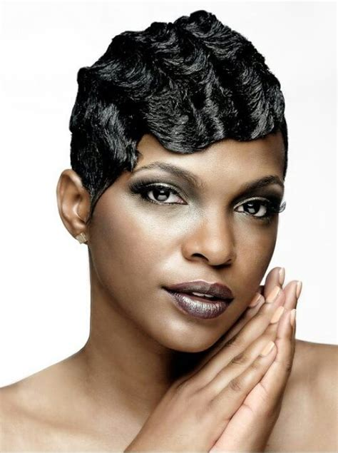 Black Hair Finger Waves Hairstyles by Finger Waves Hair Relaxed Weaved Wigs Black