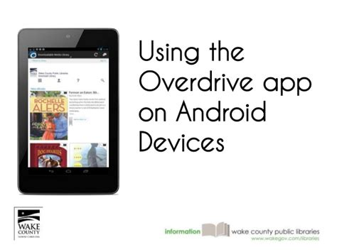 overdrive app android using the ovedrive app on android devices