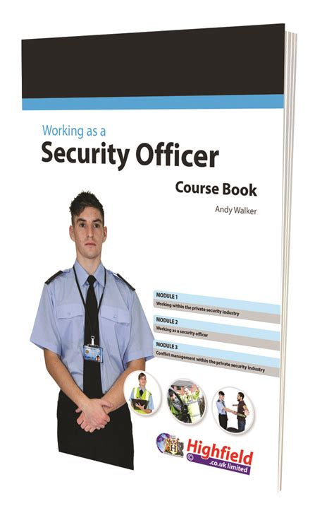 security officer book highfield qualifications