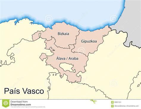 pais vasco basque 8497764021 map of the spanish autonomous community of pais vasco stock illustration illustration of