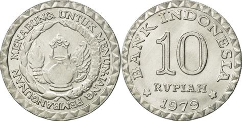 Money Coin Rp 10 Thn 1979 Indonesia indonesia 10 rupiah 1979 ms 65 70 aluminum km 44