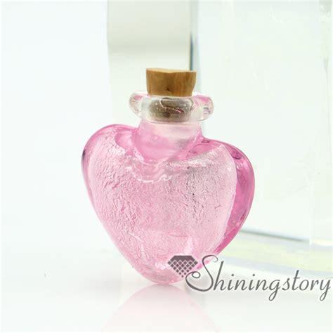 Handmade Perfume Bottles - handmade murano glass perfume bottle for necklace small