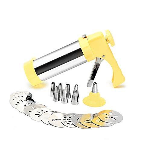 Gun Gripes Kitchen Comfort Grip Cookie Press Gun Kit With 13 Disks Biscuit