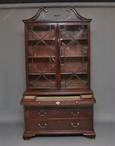 18th century mahogany bookcase on chest antiques atlas