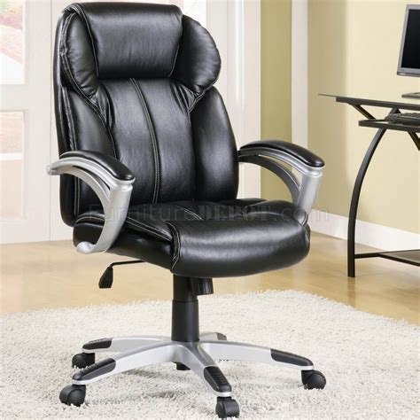 Office Leather Chairs by Black Faux Leather Modern Office Chair W Gas Lift Padded