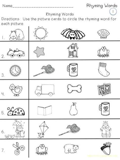 printable preschool rhyming activities rhyming words for kindergarten lesupercoin printables