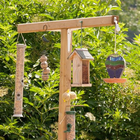 bird feeder station with planter stand birdcage design ideas