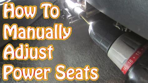 diy   manually adjust power seats   gmc chevy