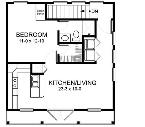 apartments garages floor plan home plans homepw03152 520 square 1 bedroom 1 bathroom country home with 2 garage bays