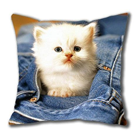 cute cat beautiful square pillow case cotton  perfect