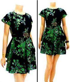 Dilla Maxy 4 Baju Dress Wanita dress batik modern terbaru dbd03 baju batik wanita dress modern toko baju batik