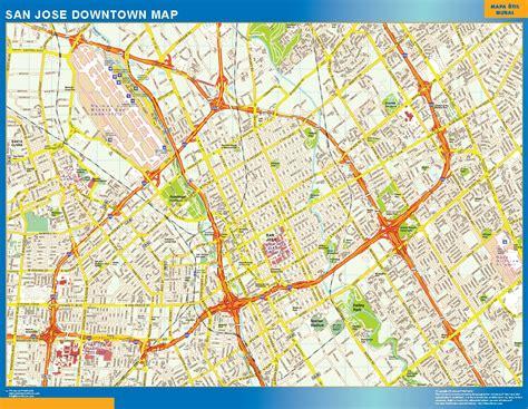 san jose road map maps usa wall maps of the world