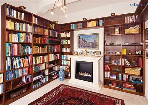 wohnzimmer bibliothek hausbibliothek regalwand im wohnzimmer