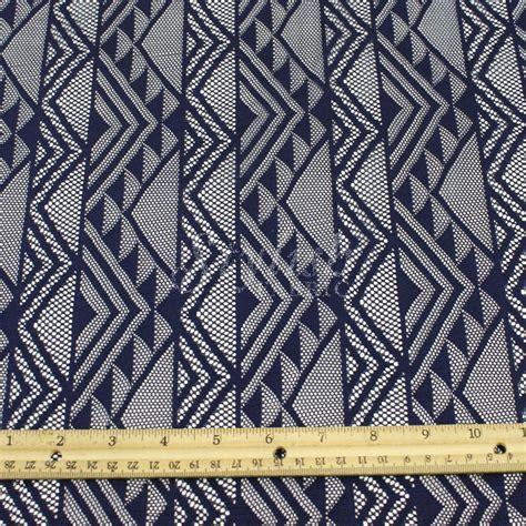 geometric pattern lace tribal lace fabric navy geometric lace by the yard elisa