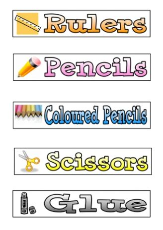 printable equipment tags display tips and resources teaching ideas
