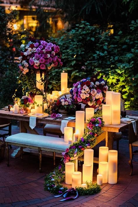 candle decor inspired to mimic the lanterns from tangled in 2019 wedding tangled