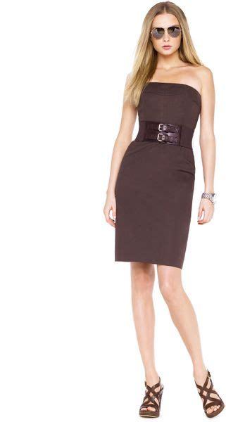 Who Wore It Better Michael Kors Black Strapless Jumpsuit by Michael Kors Michael Strapless Dress In Black Ivory Lyst