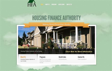lee county housing authority affordable housing authority website design