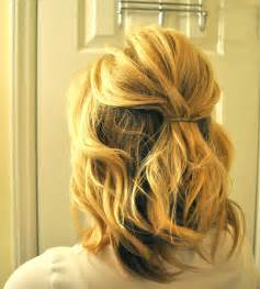 half up hairstyle for short hair search